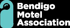 bendigo motel association logo white